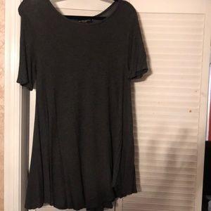 dark grey mini dress or long shirt